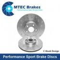 Brake discs MTEC performance 316 mm, rear axle, Sti 2.0 01-05