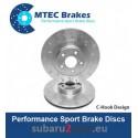 Brake discs MTEC performance 326 mm, front axle, Sti 2.5 05-17